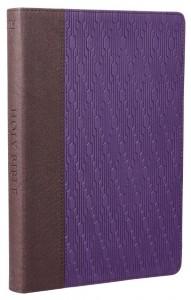 Large Print Thinline KJV Bible - Purple/Brown